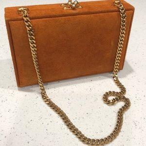 Handbags - Vintage suede leather board backgammon handbag